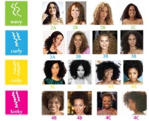 Natural hair type chart
