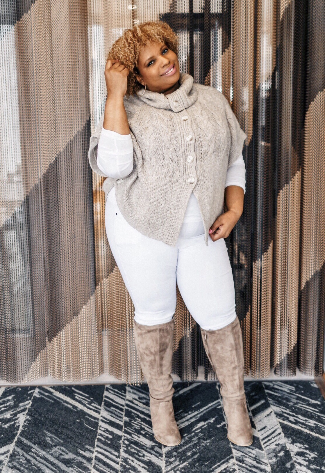 white pants in winter plus size