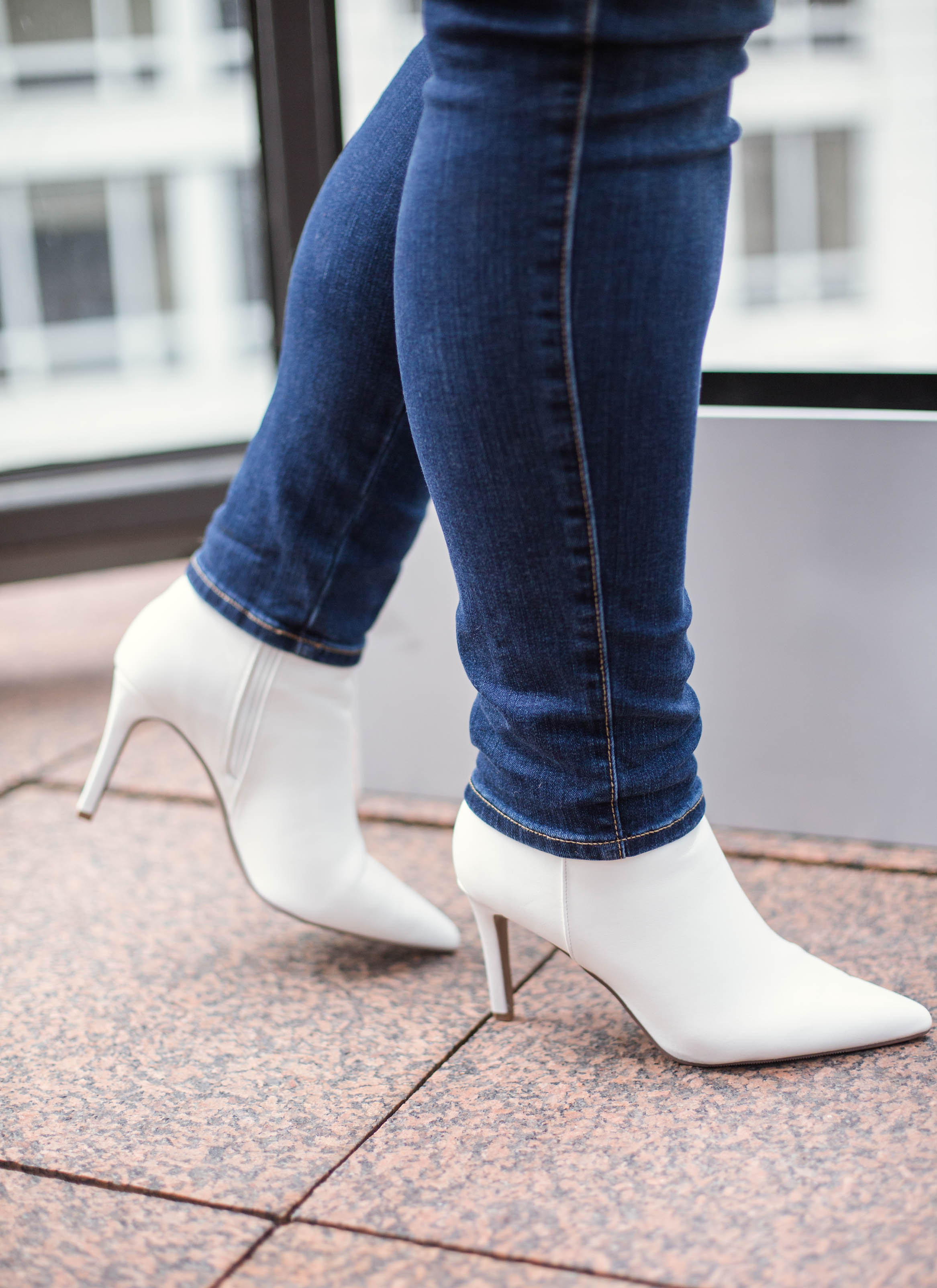 white booties wide width