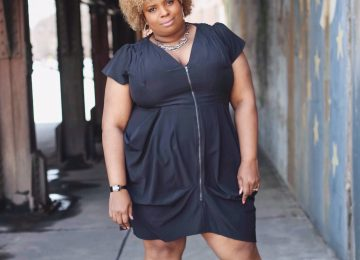black plus size dress city chic