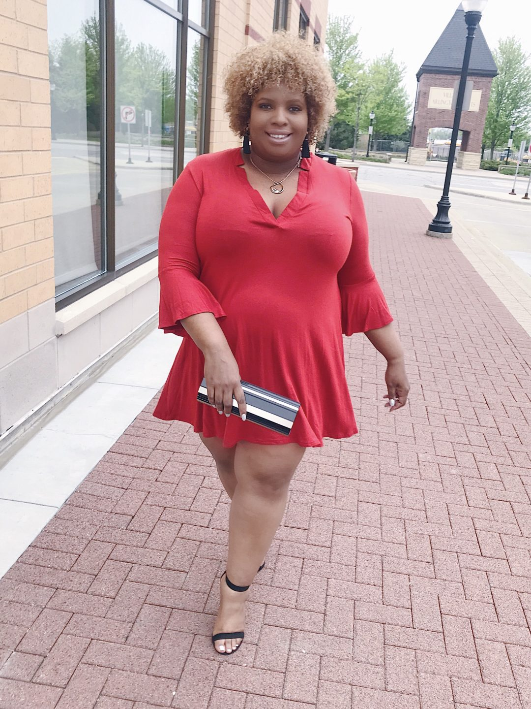 rust trapeze dress forever 21