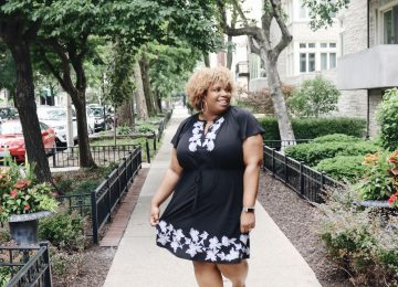 LOFT Plus Size Black dress