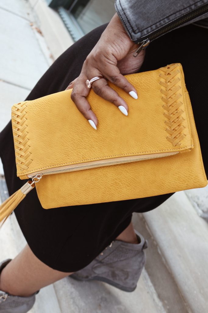 mustard clutch purse stitch fix