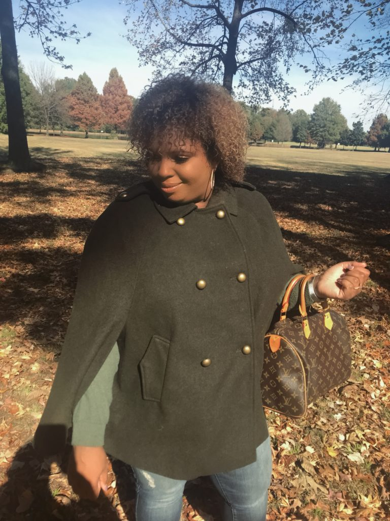 forest green military cape coat