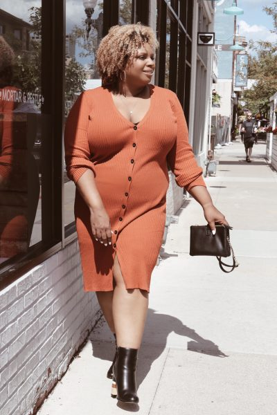 orange sweater dress plus size forever 21